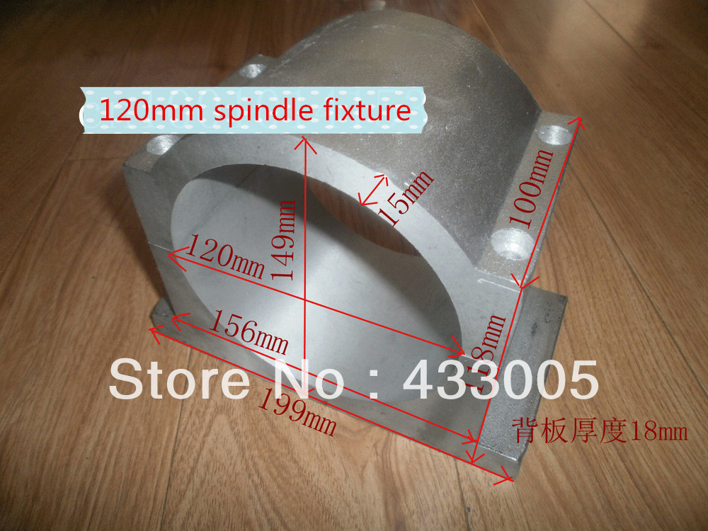 ФОТО Cast aluminum inner diameter 120mm spindle fixture length 100mm wholesale and retail spindle motor chuck