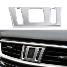 цена на ABS Chrome For Nissan Murano 2015 2016 2017 2018 Accessories Car Front Middle Air Conditioning AC Outlet Vent Cover Trim