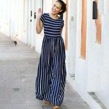 4fd47e1427270 Buy navy stripe maxi dress and get free shipping on AliExpress.com
