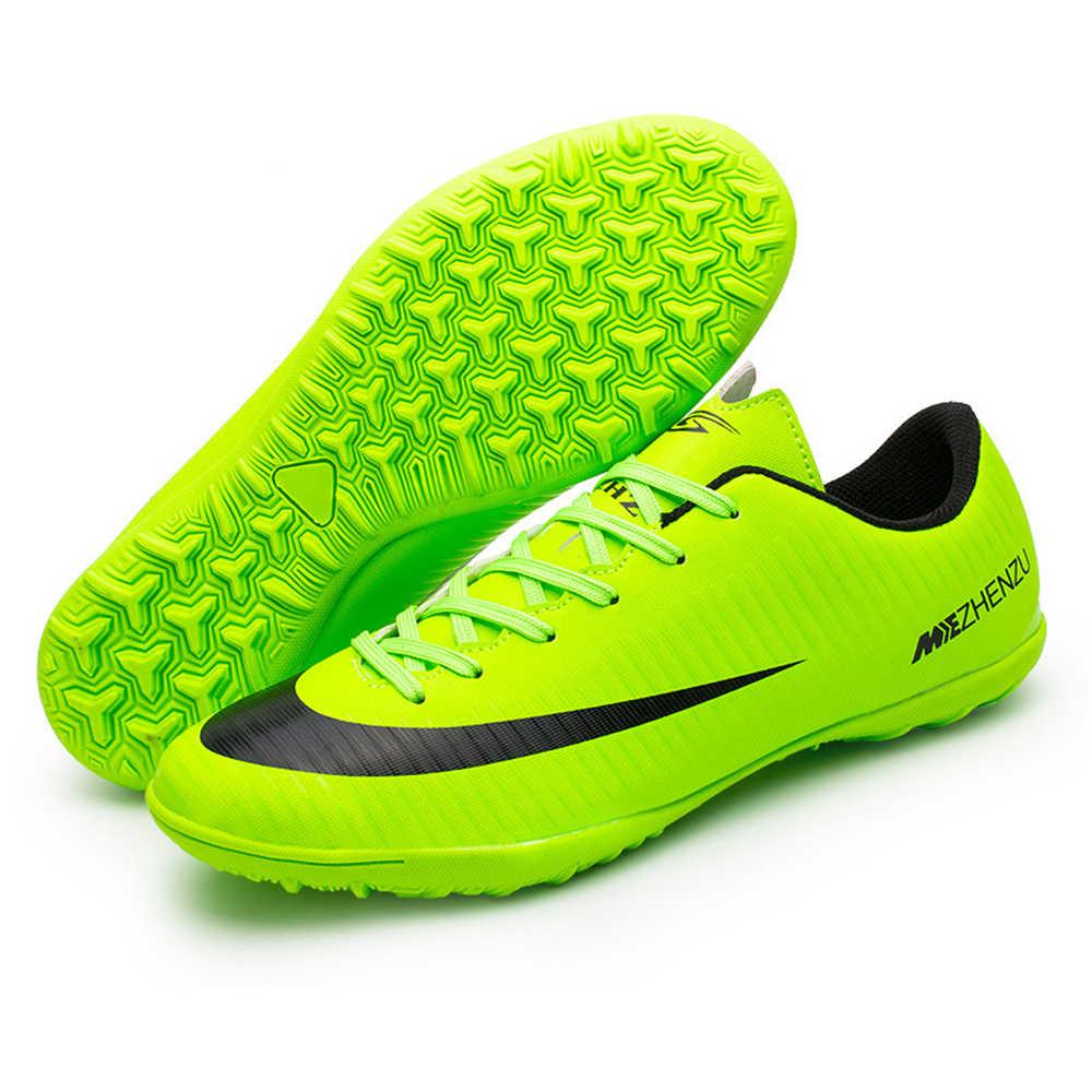 4cafe33c Профессиональные футбольные бутсы обувь низкий Топ TF для взрослых и детей футбол  Футбол сапоги тренер Спорт