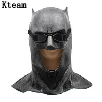 2018 New Hot Batman Mask Adult Halloween Mask Realistic Full Face Latex Party Mask Caretas Movie Bruce Wayne Cosplay Props Toys
