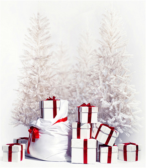 gold christmas tree photography background backdrop 3x5 white snow photo backdrop for family photo booth camera