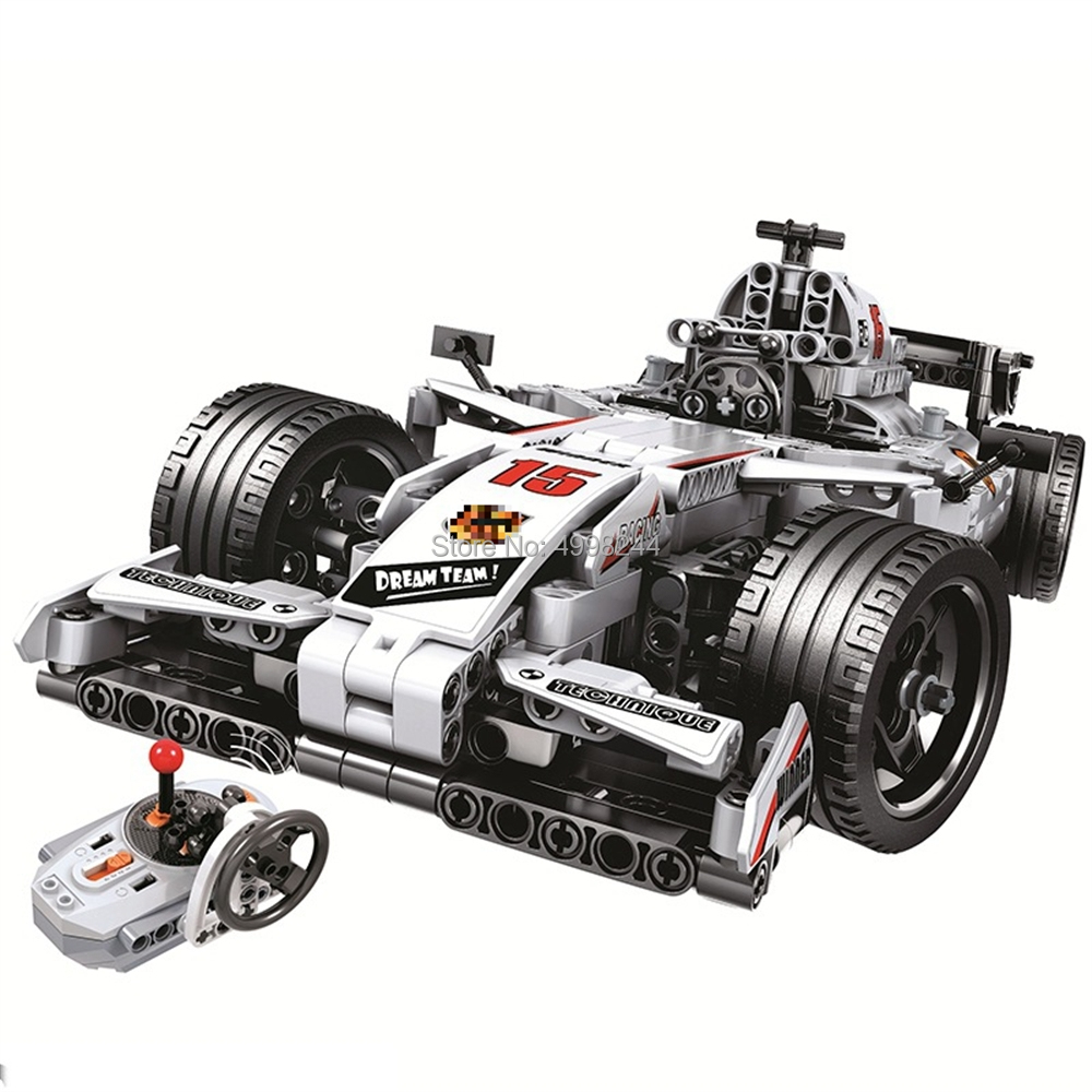 winner 7115 729pcs technic remote control rc racing car electric building blocks Bricks Toy