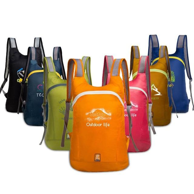 Brand tectop Outdoor Couples leisure Mountain climbing Tourist Backpacks  men women Ultralight Portable Bag foldable backpack c46b1ca482b63