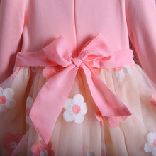 Bow Flowers Girl Party Dress