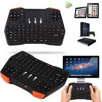 Russa Teclado Sem Fio i8 Mais Mini Teclado Sem Fio de Jogo Klavye w/Air Mouse Touchpad para Smart TV PC para Xbox 360 para PS3