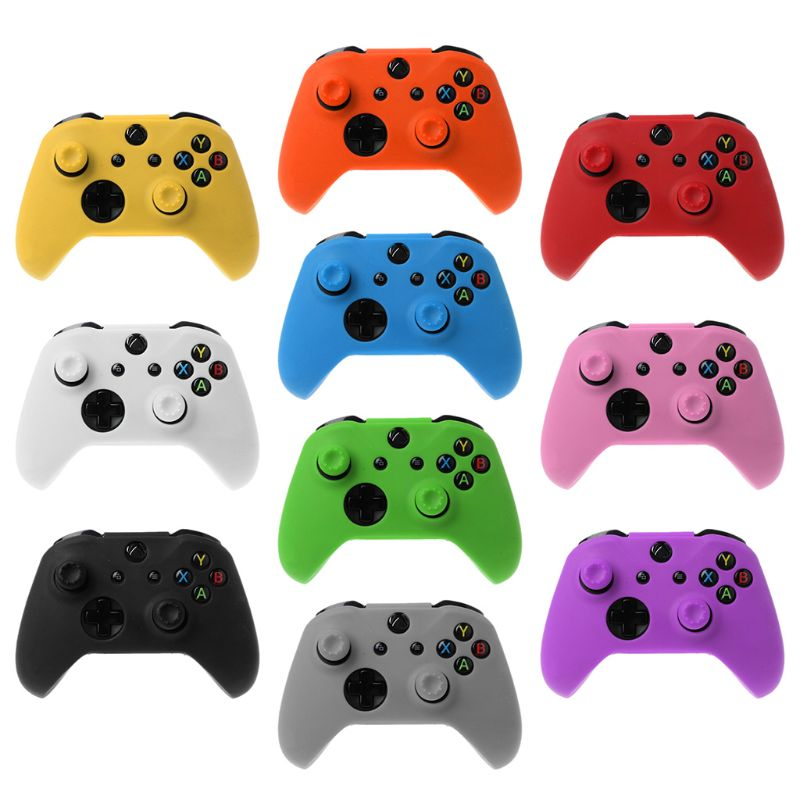 OOTDTY Protective Cover Cap Analog Thumb Sticks Grip Soft Silicone Case Anti-Slip Waterproof For XBOX Ones Gamepad Controller