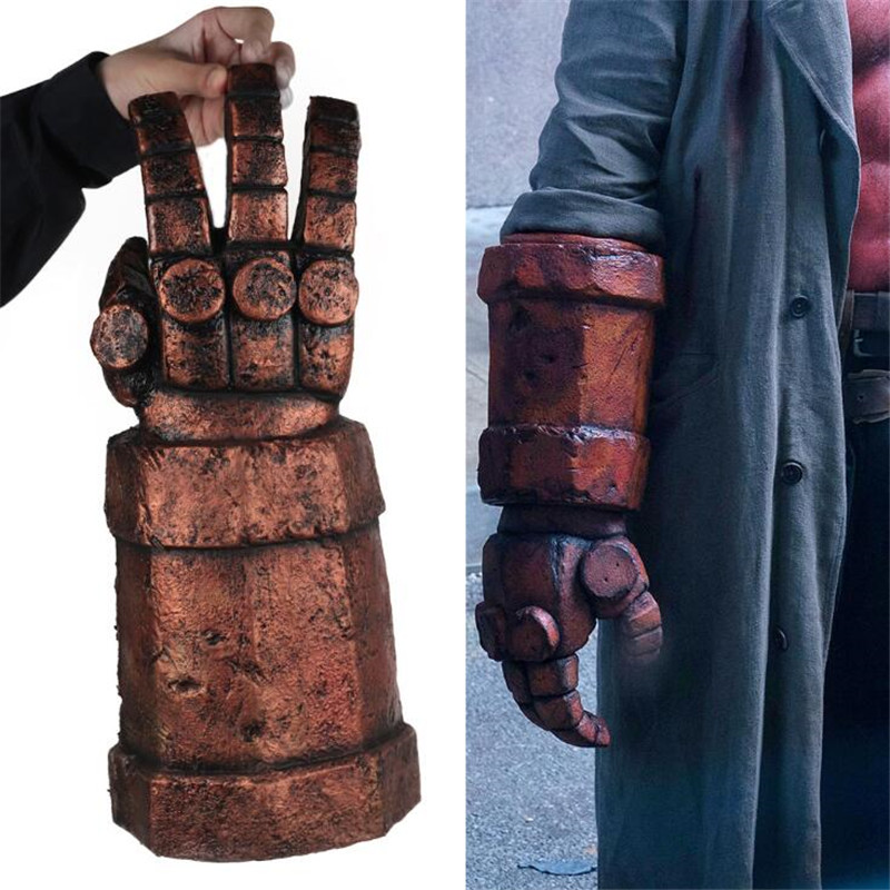 Movie Hellboy Gloves Anung Un Rama Cosplay Costumes Props Performance Terror Latex Helloween Gloves Mittens Mechanical Party Bar