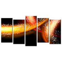 5 Panel Beautiful Aurora Decoration Picture Poster Paint On Canvas Wall Decor Spray Wall Painting Creative Canvas Art Prints