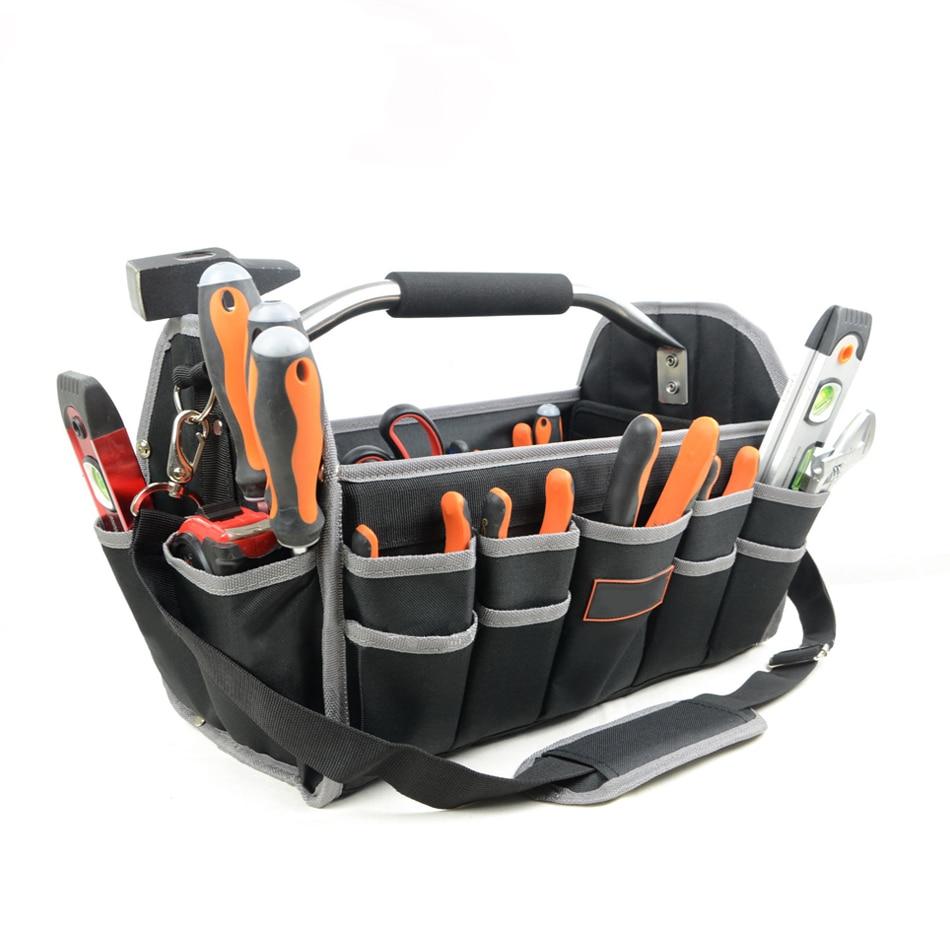 "16""600D Foldable Tool Bag Shoulder Bag Handbag Tool Thick Waterproof Organizer Storage Bag Large Capacity Hardware Bag"