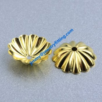 10000pcs jewelry fingding brass filigree beads cup bead cap wholesale price raw brass  size 10mm