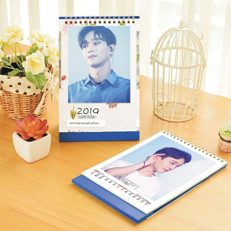 Honig 2019 Neue Kpop Exo Laien Chanyeol Chen Sehun Xiumin Schreibtisch Kalender Bild Fotoalbum Neue Mode Fans Geschenk Messwerte Karte Bücher Kalender