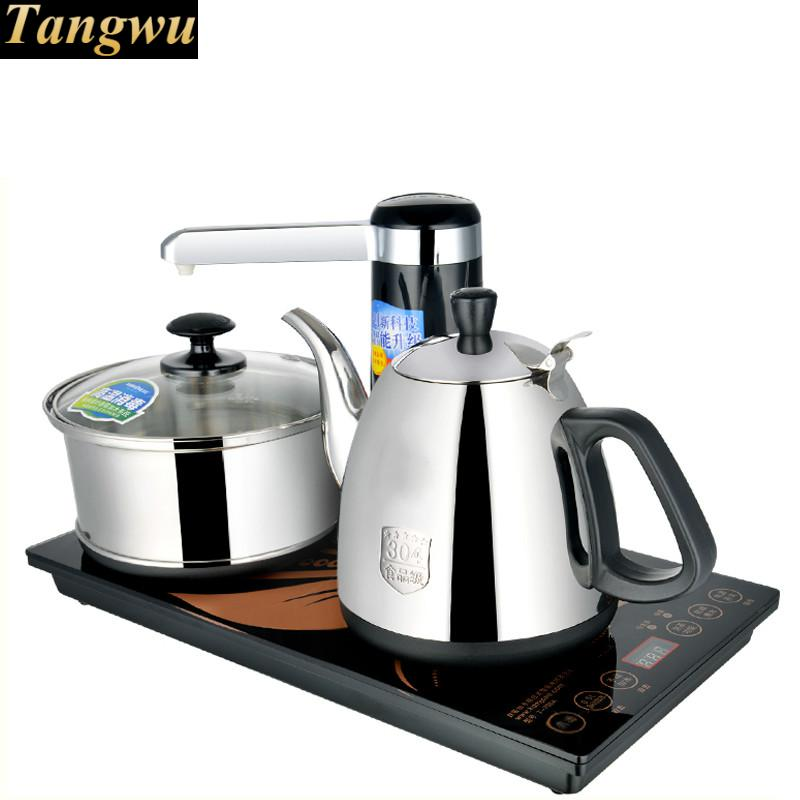 Automatic water electric kettle teapot intelligent induction tea furnace free shipping automatic water supply electric kettle tea set pumping furnace
