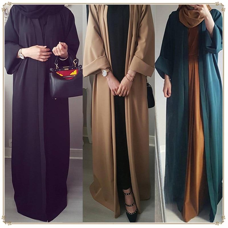 Abaya Dubai Ramadan Front Open Muslim Dress Abayas For Women Baju Muslim Wanita