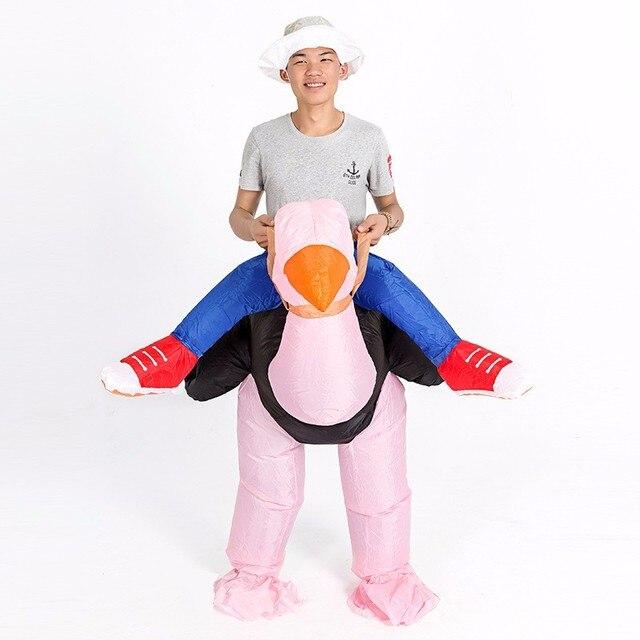 Volwassen opblaasbare struisvogel kostuum mannen vrouwen halloween ...