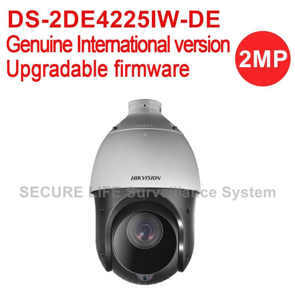 Hikvision DS-2DE4225IW-DE International version 2MP 25x Speed Dome CCTV PTZ camera Ultra-low light,  Up to 100m IR H.265+ hikvision ds 2df8223i ael english version 2mp ultra low light smart ptz camera ultra low illumination dark fighter