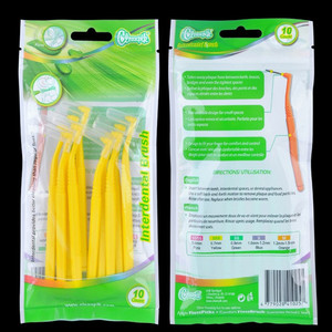 Interdental Brush Tooth Dental Floss for Teeth Minimum diameter 0.7mm 10 / Cards Provides better cleaning than regular floss