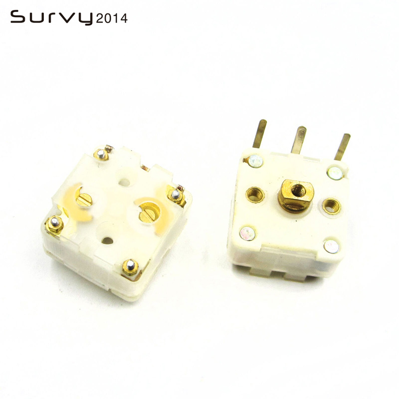 2PCS 223F Style Dual Duplex 20pF Variable Capacitor For FM Radio