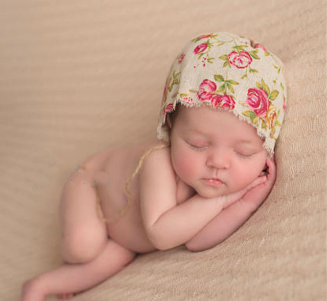Baby Lace Hat Newborn Photography Props Bonnet Hat Photo Props For Newborn 0-3m