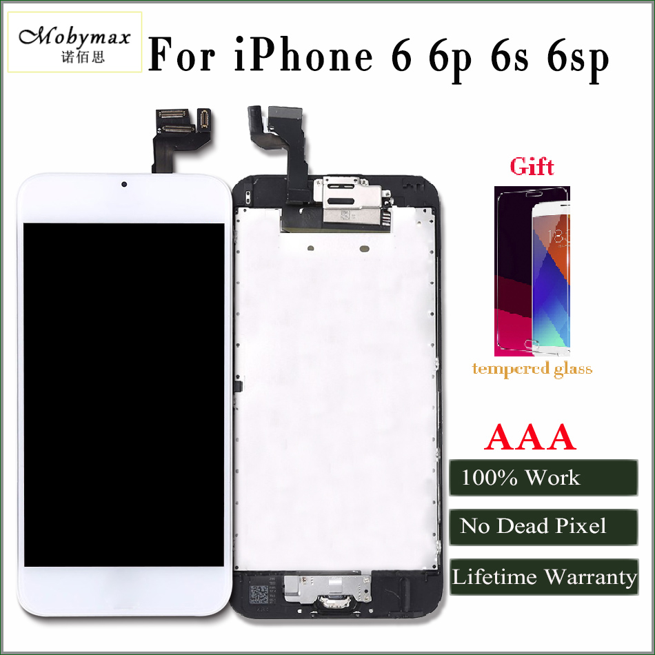 Mobymax AAA Quality LCD For iphone 6 Display Touch Screen Digitizer full Assembly Frame+Front Camera /Tools/Glass