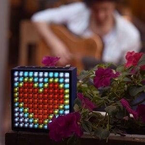 Image 5 - Divoom מוסת הזמן Bluetooth אלחוטי 4.0 חכם שעון מעורר ונייד רמקול עם FM רדיו תואם עם IOS אנדרואיד xiaomi