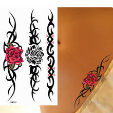 Sexy Rose Temporary Tattoo Floral Removable Waterproof Arm Body Tattoo Sticker