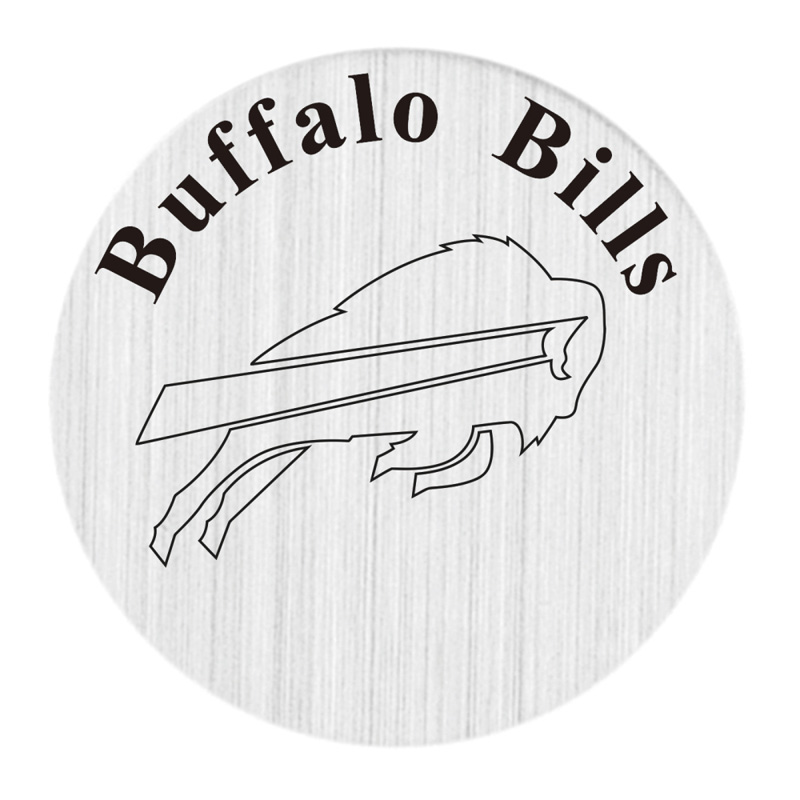 Buffalo Bills 22mm Stainless Steel Floating Locket Plate USA Floating Charms Fit 30mm Living Glass Lockets 20pcs/lot