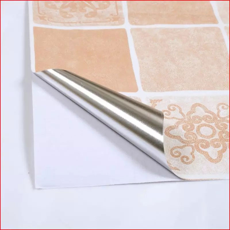Anti Oil Kitchen tiles Wall Stickers cupboard Wallpaper Waterproof Painted matte Heat Resistance Renovation Home Decor 60 500cm in Wall Stickers from Home Garden