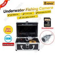 Eyoyo Original 30M Fish Finder Full Silver HD 1000TVL Underwater Fishing Camera Video Recording DVR 7