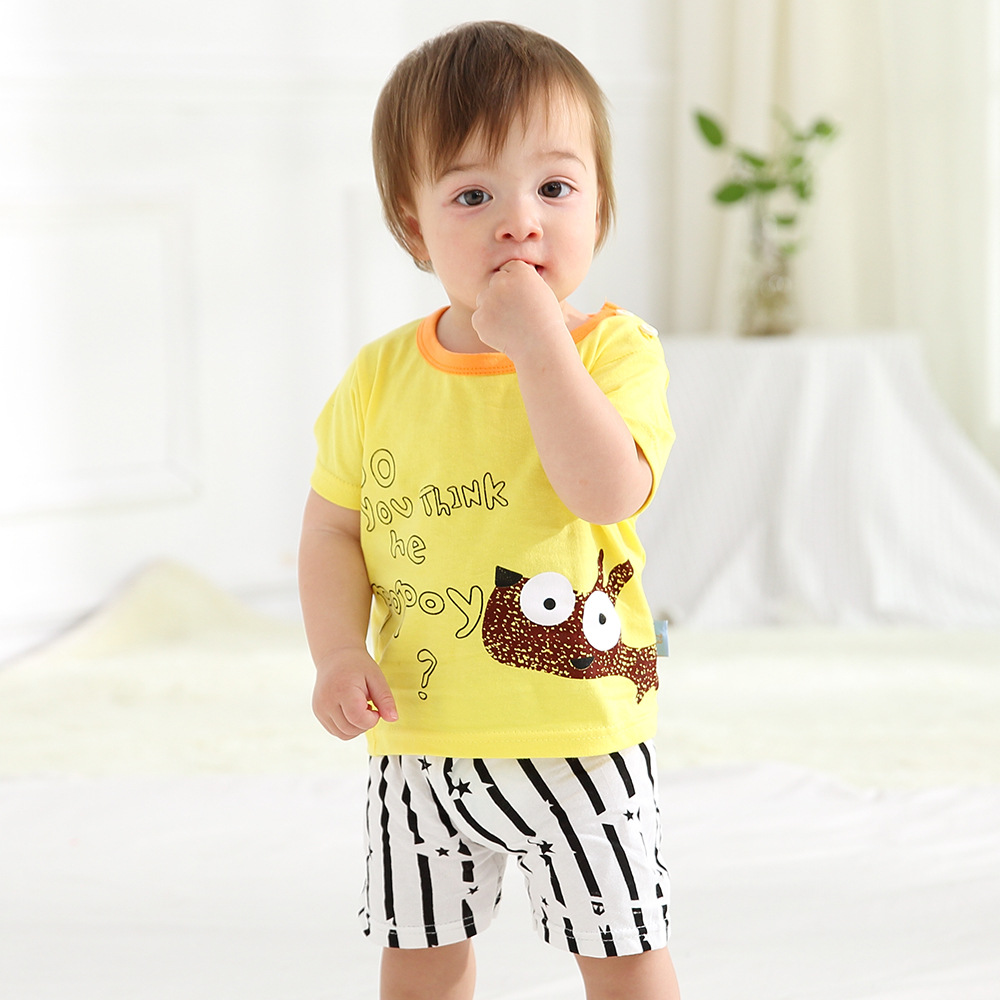 Summer Baby Boy Girl Clothes Sets Boys Cartoon Print T Shirts Shorts Sets Children Cotton Sets Kids T Shirt Baby Girls Shorts 4 12y 2017 new boys t shirt at cartoon children t shirts for boys girls tees cotton tops kids clothes and trousers