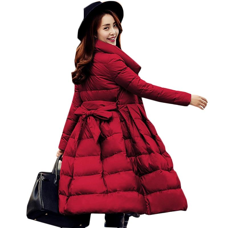 high quality Down long jacket Winter warm parka winter jacket women 95% White duck down outerwear Winter Coat Women Down Jacket