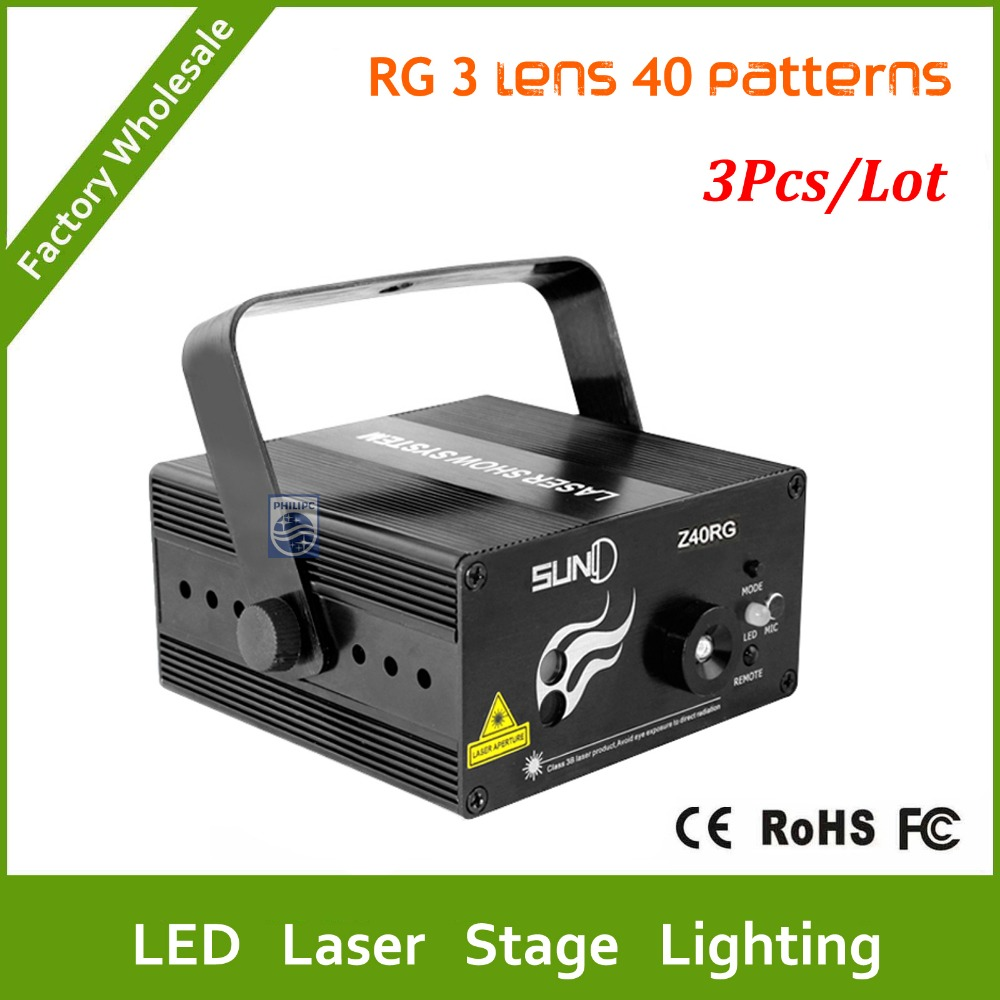 DHL Free shipping 3pcs 3 Lens 40 Patterns LED Laser Projector Stage Lighting Effect Remote 3W Blue For DJ Disco Party Club Laser rg mini 3 lens 24 patterns led laser projector stage lighting effect christmas xmas remote 3w blue for dj disco party club