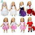 Doll accessories Dresses, wedding dresses, dresses for 45cm American girl and our generation doll