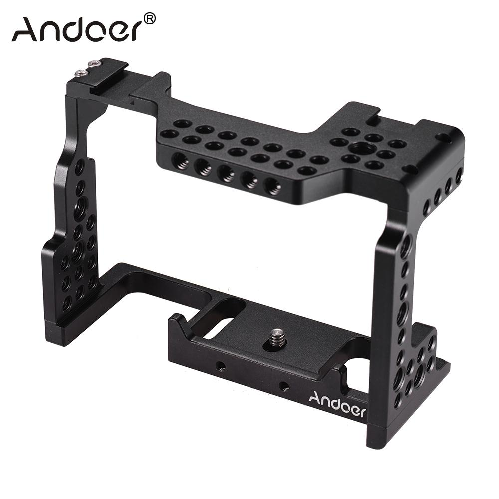 """Andoer Video Film Movie Making Stabilizer Aluminum Alloy 1/4"""" Screw Camera Cage for Sony A7II/A7III/A7SII/A7M3/A7RII/A7RIII-in Camera Cage from Consumer Electronics    1"""