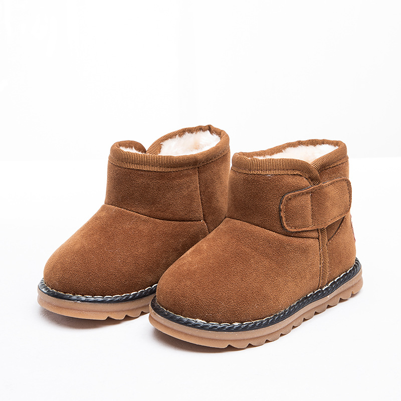 New Arrivals Fashion pure kids boots Children Warm baby moccasins Boys Girls Baby shoes snow boots ...