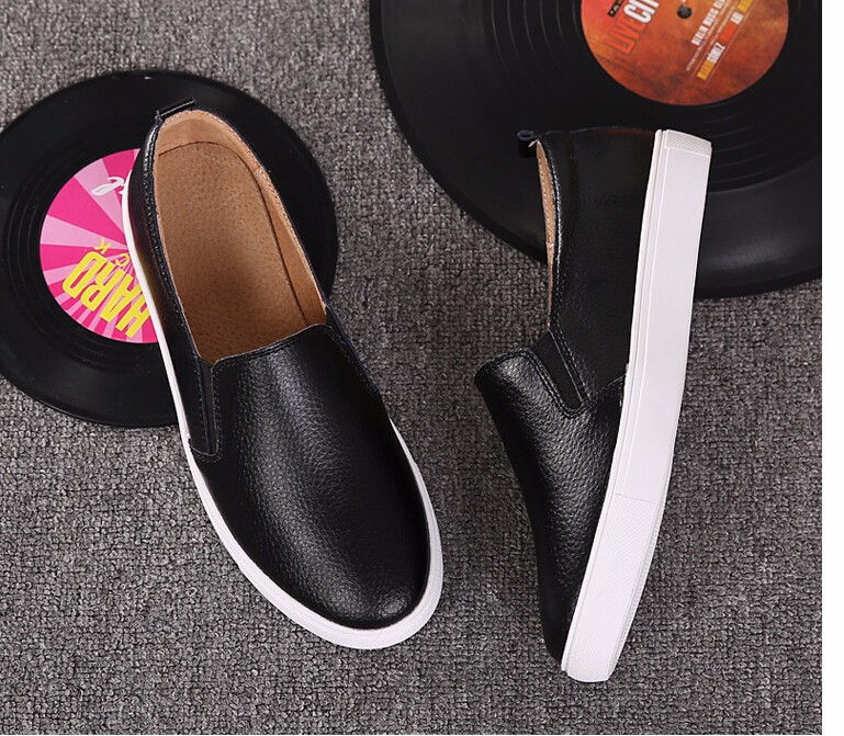 Free Shipping Spring and Autumn Men Canvas Shoes High Quality Fashion Casual Shoes Low Top Brand Single Shoes Thick Sole 7583 -  -  (5) -  -  -  -