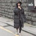 Hoodies Oversize Preto Big Plus Size Outwear Parka Quente Grosso Fur Duck Down Casaco de Inverno Mulheres Retro