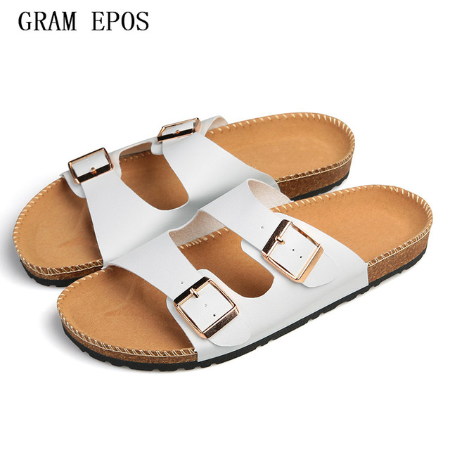 607cb9b6e9fe1e GRAM EPOS Open Toe Brand Designer Casual Plaid Stripes Men Sandals Slippers  Summer Men Outdoor Casual Beach Shoes Flip flops
