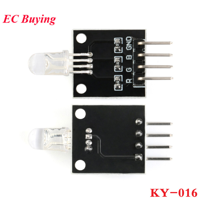Integrated Circuits Electronic Components & Supplies 1pcs Smart Electronics Fz0455 4pin Keyes Ky-016 Three Colors 3 Color Rgb Led Sensor Module For Arduino Diy Starter Kit Ky016 100% Guarantee