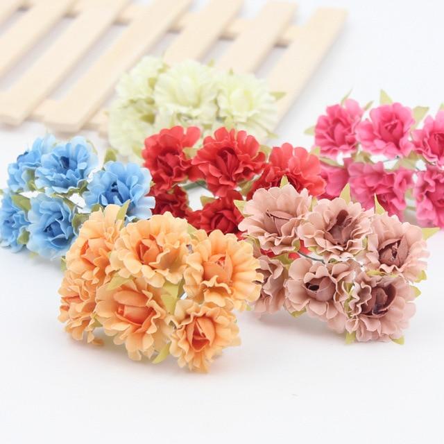 6PCS/Lor Mini Paper Rose Flowers Bouquet Wedding Decoration Paper ...