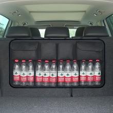 Оксфорд 600D автомобильный органайзер для багажника, сумка для хранения бутылок с водой, сетчатые сетки, универсальный размер, на заднее сиденье, Подвесные карманы, Мультяшные дорожные сумки