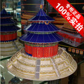 Free shipping Large Beijing temple of heaven 3d model puzzle handmade futhermore souvenir Difficult ancient architecture model