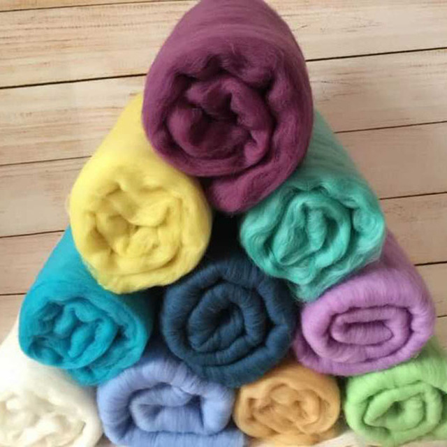 Photo Props Wool Felted Wrap Wool Baby Blankets Fluff Baby Newborn Photo Prop Basket Filler Fluff Photography Prop Wool Basket