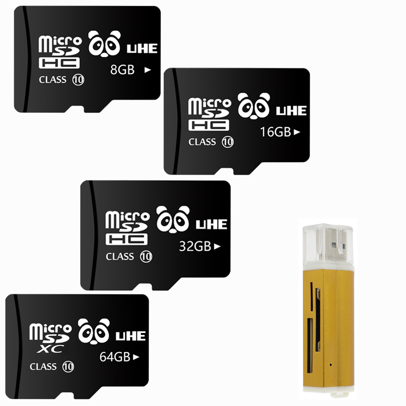 Black Microsd SD 32GB Memory Card 64GB Tf Cards 4GB 8GB 16GB Flash Microsd With Card Reader Mini Gift