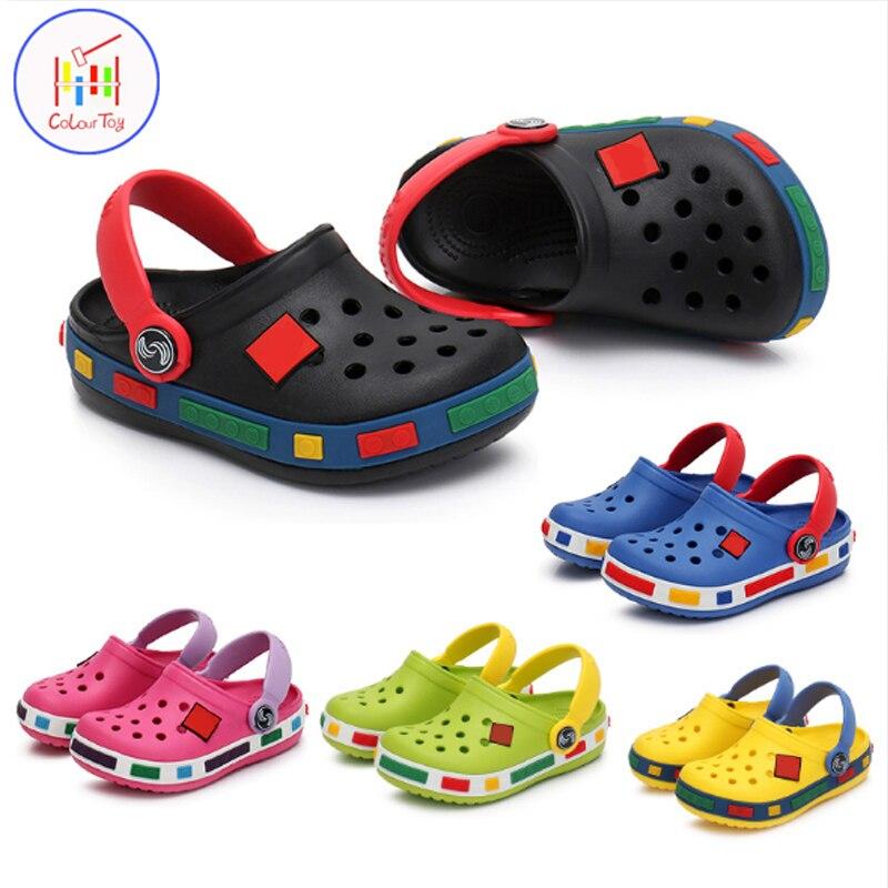 Summer Kids Shoes Children Sandals Cartoon EVA Fashion Boy Girl Beach Slippers Resistance Breathable Antislip Baby Kid Wear