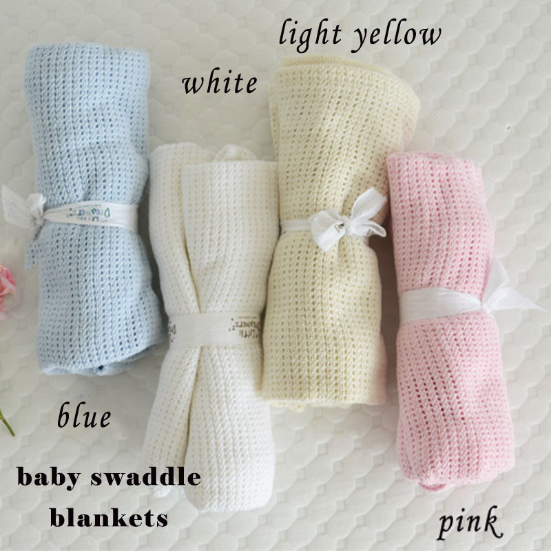 Minkey Baby Blankets Nyfödd Andas Sleeping Swaddling Barn Bil / Spjälsäng Casual Hole Wrap Mantas och Cobertores Häckdukar