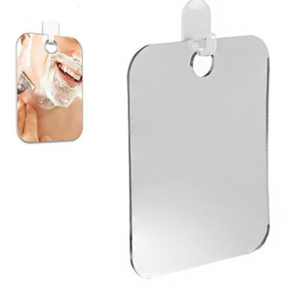 Acrylic Anti Fog Shower Mirror Bathroom Fogless Fog Free Mirror Washroom Travel For Man Shaving Mirror 13*17cm Travel #10
