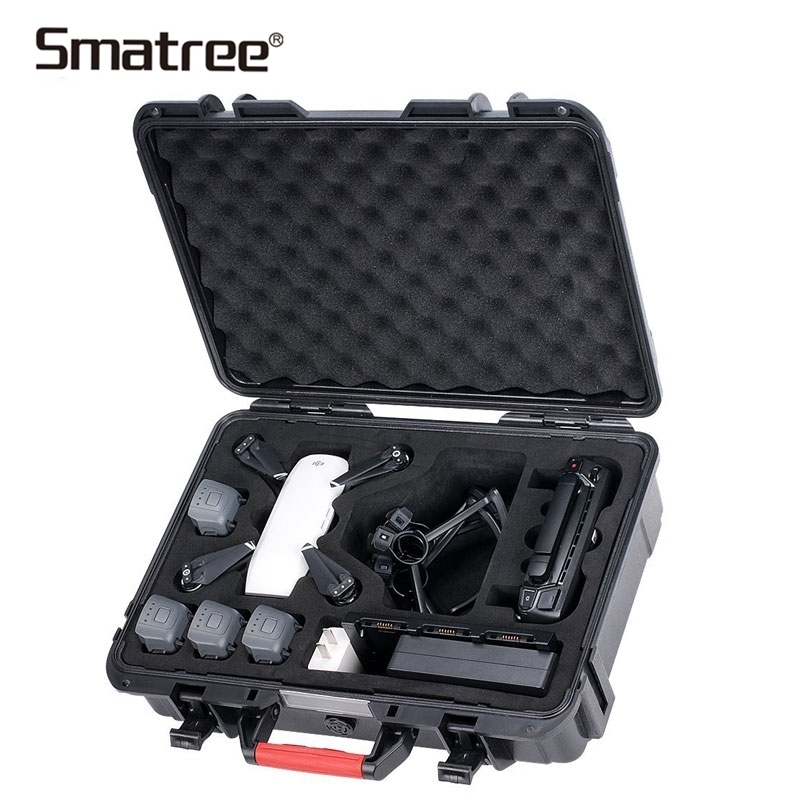 Smatree Portable Hard Drone Waterproof Bag Carry Case For DJI Spark Accessories Protective Durable Carrying Bag Storage Suitcase waterproof eva hard storage bag carry case for dji spark drone accessories handbag box portable cases shoulder storage