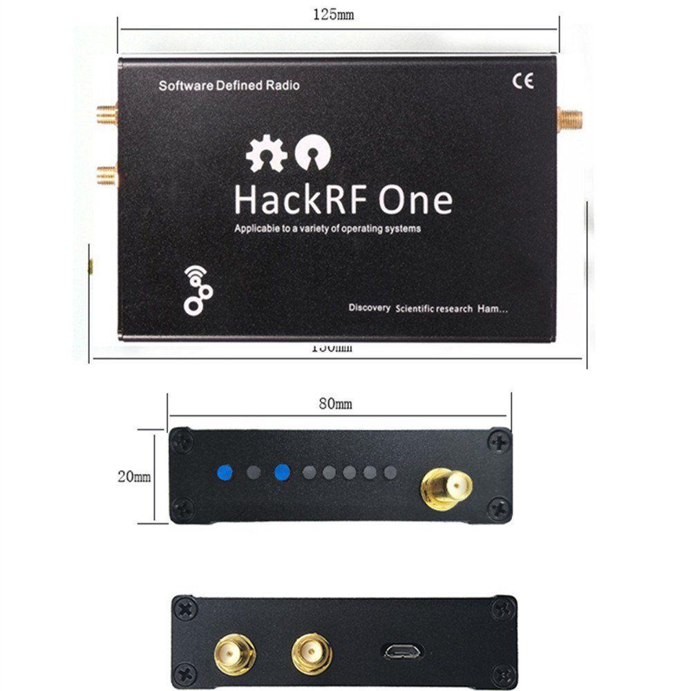 HackRF One usb platform reception of signals RTL SDR Software Defined Radio 1MHz to 6GHz software demo board+Metal case + Antena