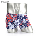 2017 summer Fashion ice fabric Mens Boxer Shorts homme Mid-waist cueca breathable hombre boxer sexy underwear men